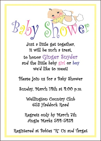 Best  Baby Shower Invitation Wording Ideas On