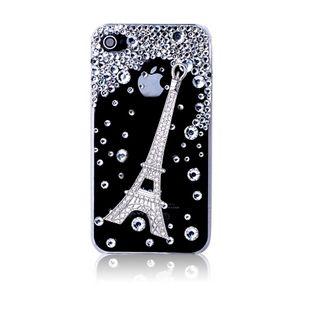 Eiffel tower and crystal rhinestones alloy diy bling phone deco kit K2   chriszcoolstuff - Craft Supplies on ArtFire