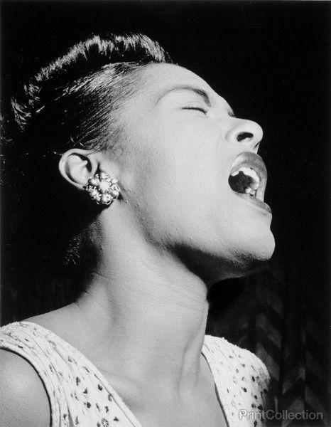 Portrait of Billie Holiday, Downbeat, New York, N.Y., ca. Feb. 194?, photographed by WIlliam Gottlieb.