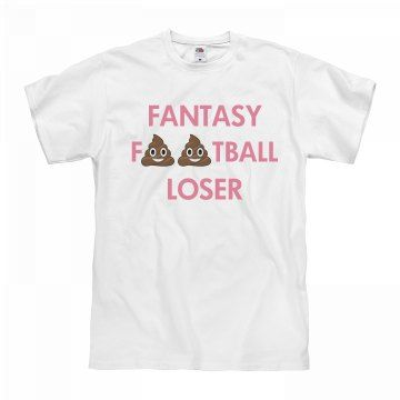 Poop Emoji Fantasy Football Loser | Snag a hilarious poomoji t-shirt for the loser of your fantasy football league to wear as punishment this season! Embarrass your friend for placing last!