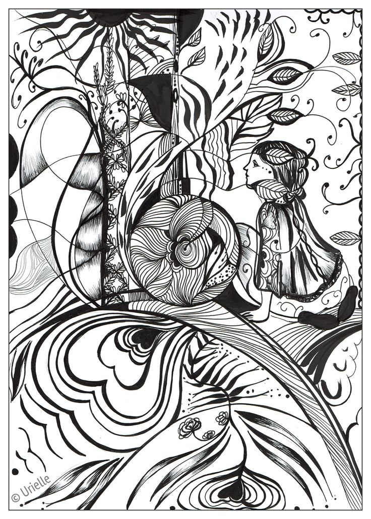 Reflection Of Love From The Gallery Zen Anti Stress Artist Urielle Colouring For AdultsAdult Coloring PagesColoring BooksFree