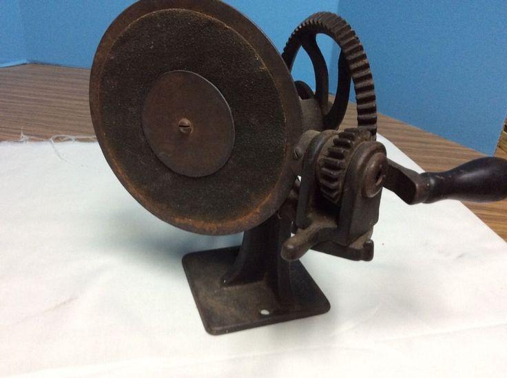 Antique Gould & Cook Hand Cranked Pencil Sharpener Patent 1886 | eBay