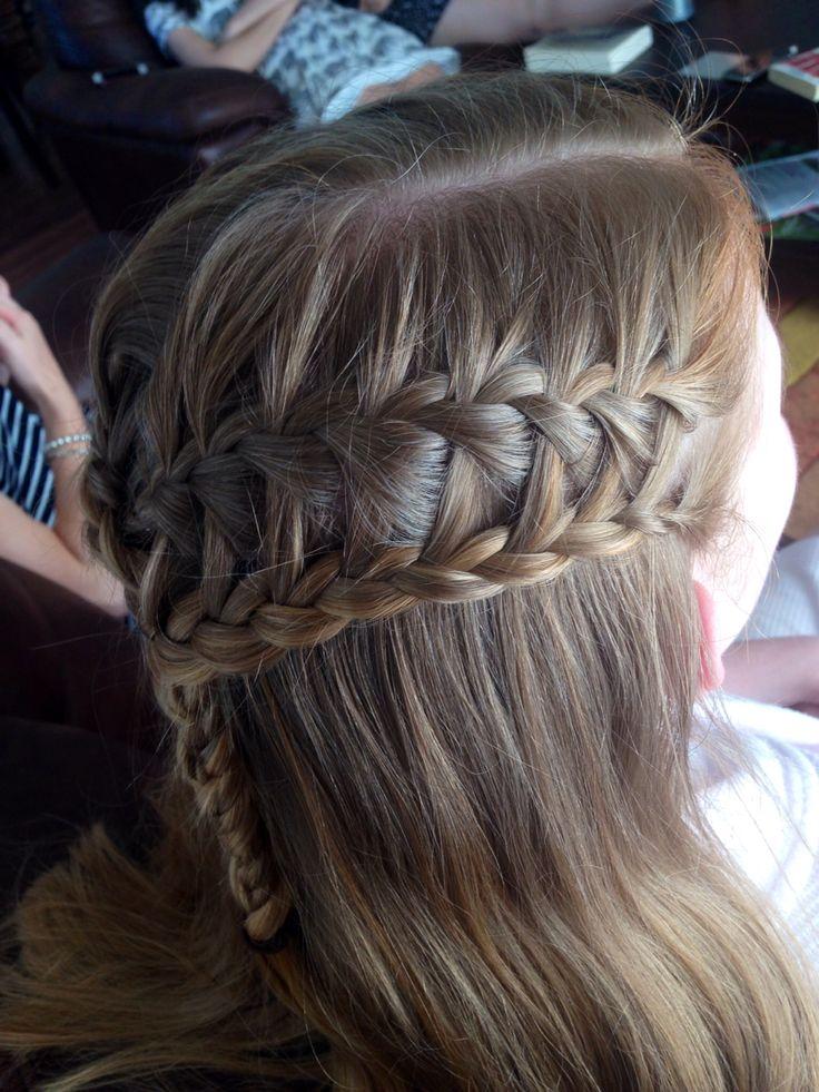 Ladder braid on blonde hair