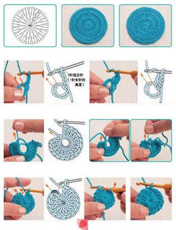 Crochet Working in Round - Chart ❥ 4U // hf