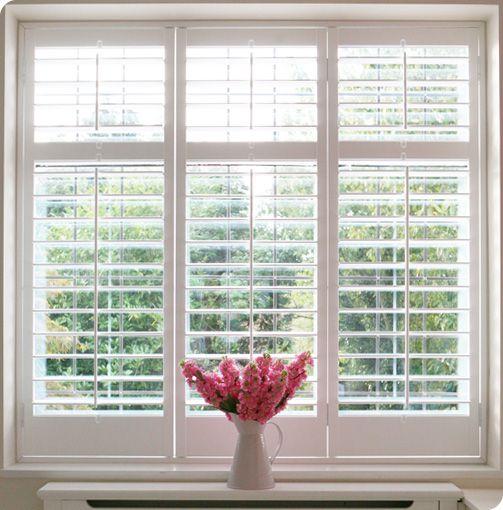Single, double plantation shutters for wide window