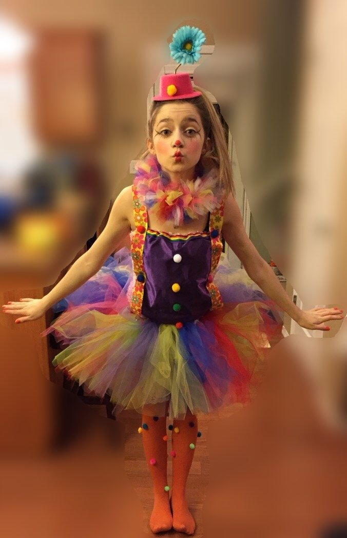 Clown tutu outfit, clown costume, circus outfit by TulleVogue on Etsy https://www.etsy.com/listing/205386160/clown-tutu-outfit-clown-costume-circus