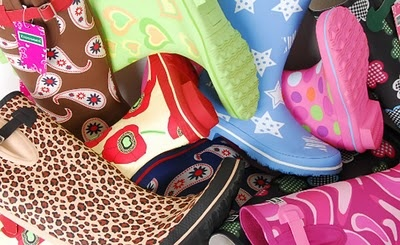 Funky Wellies - you wouldn't go to a festival without them!