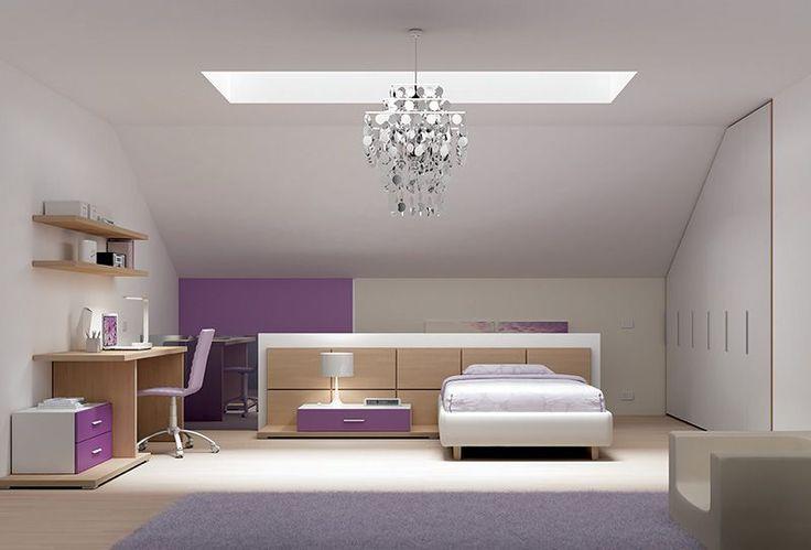 Arredamento cameretta letto sommier high una piazza e 1 - Camerette per mansarda ...