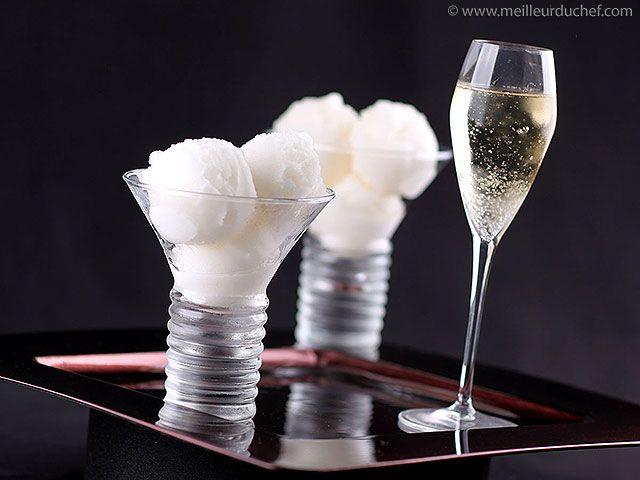 Champagner-Limetten-Sorbet selbst gemacht