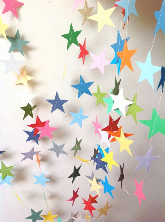 Star Garland  Party Decoration  Baby Shower  by MaisyandAlice