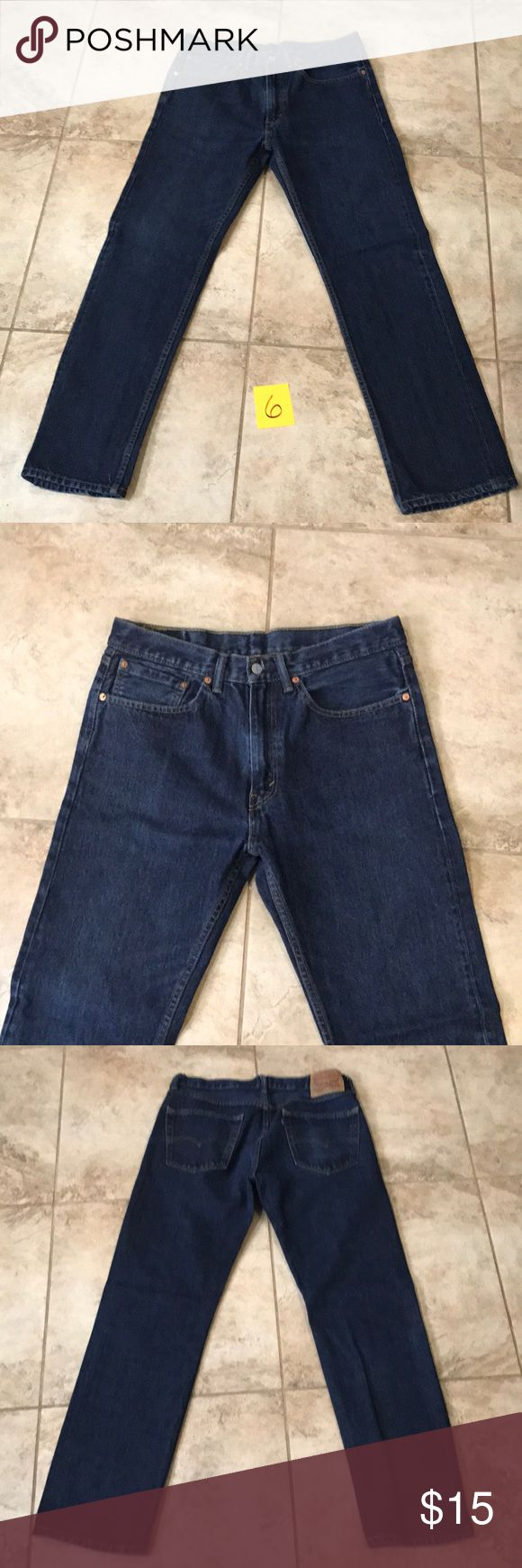 Gently used men's Levi's 505 jeans waist 34 L32 Gently used condition blue  Levi's 505 jeans W 34 L32 *price firm Can not bundle more than 2 pairs due to weight restrictions Levi's Jeans Straight