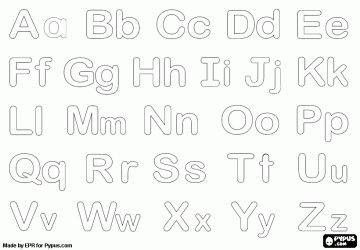 Bubble Alphabet With Uppercase And Lowercase Letters Coloring Page