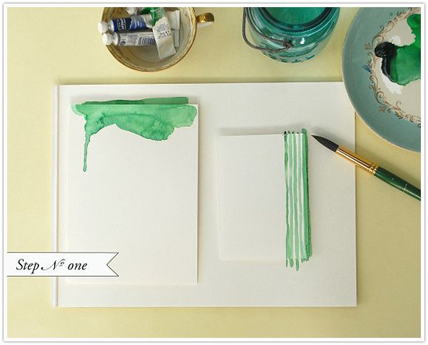watercolor stationery diy tutorial - oh so beautiful paper - camille styles events