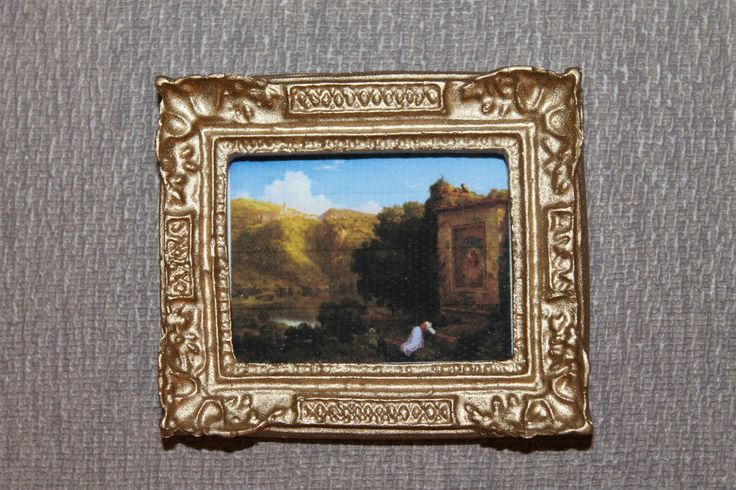 DOLLHOUSE MINIATURE Painting/ Picture # 92