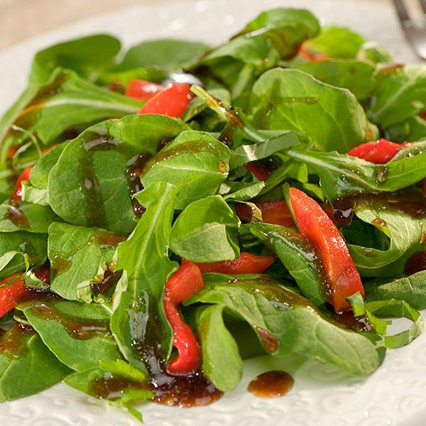 Arugula & Roasted Pepper Salad #recipe #salad #arugula #healthy