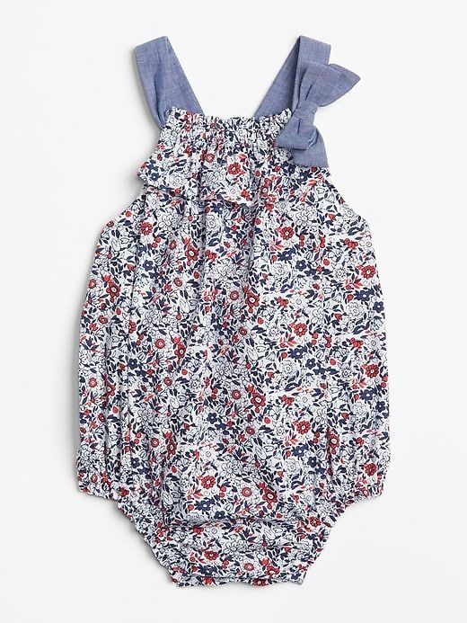 ac4077f31807d Gap Baby Floral Bubble One-Piece New Off White #vintagebabyclothes ...