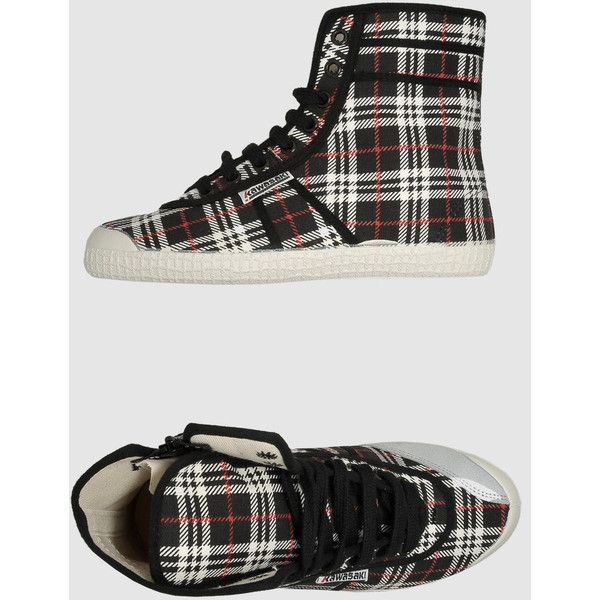 KAWASAKI High-top sneakers - Item 44233171 (33 AUD) found on Polyvore