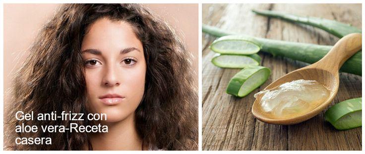 """la carga eléctrica sobre nuestro cabello que genera lo que comúnmente solemos llamar """"frizz"""". Este problema (que hace que nuestro cabello tenga aspecto erizado e incontrolable).También es cierto que se puede fabricar un gel anti frizz con aloe vera 100% casero. Veamos cómo se prepara…"""