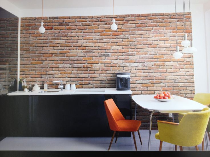 Easy Brick Wall. Itu0027s Wallpaper From Sherwin Williams! Part 63