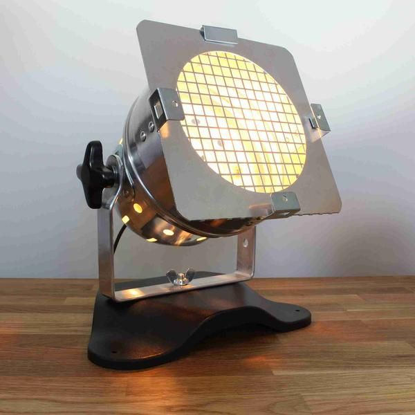 Theatre Spot Light Table Lamp Chrome | Black table lamps
