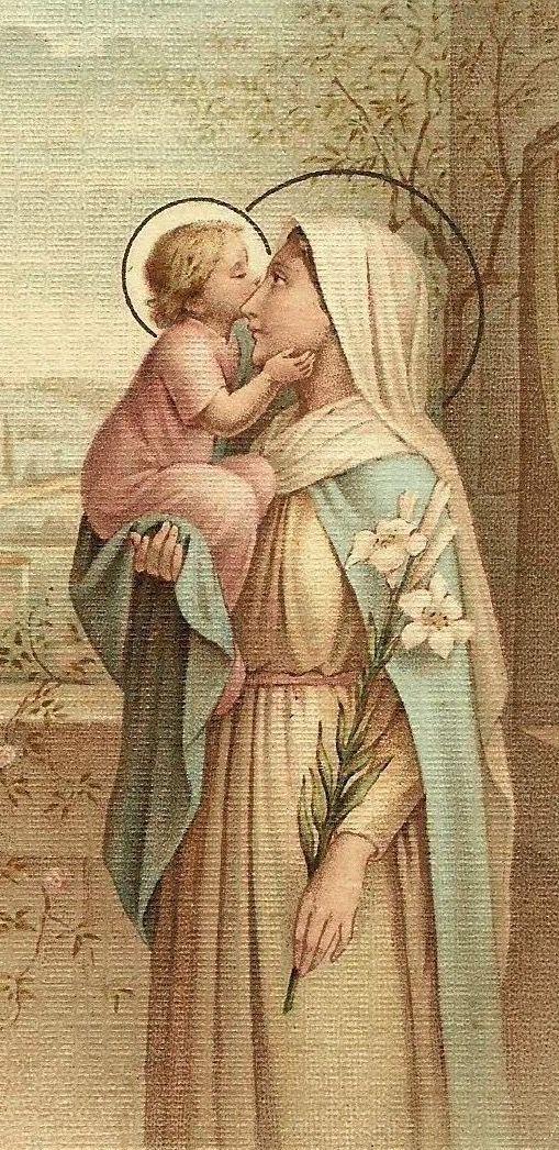 EL NIÑO JESÚS, ES LA ALEGRÍA DE LA VIRGEN MARÍA