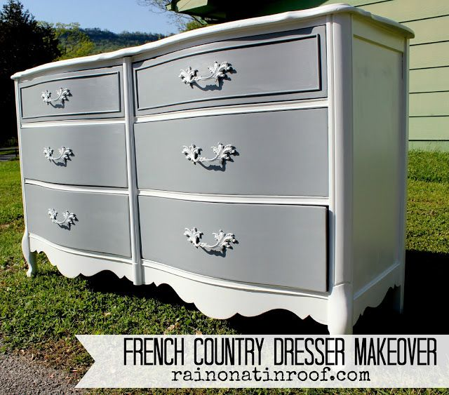 dresser painting diy | French Country Dresser Makeover {DIY Chalk Paint} – Rain on a Tin ...