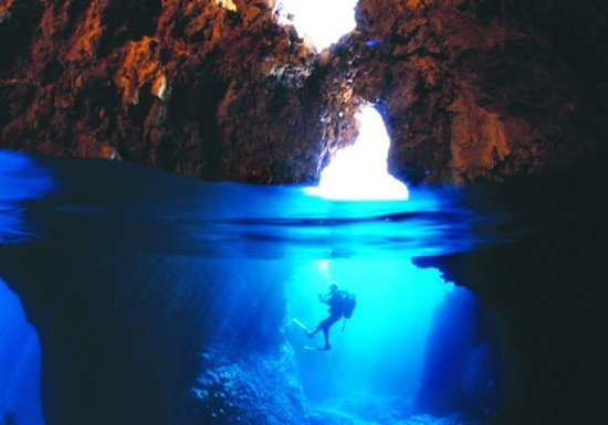 Diving in Adrasan Cave Antalya, Turkey