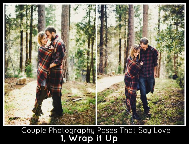 Couples Photography Poses Blanket Wrapped Engagement Pics