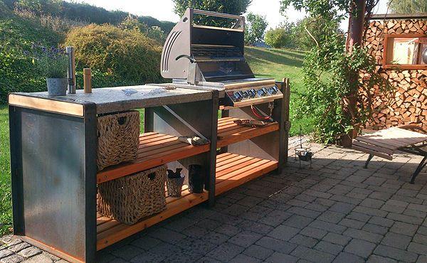 Die Outdoorküche - StoneLine L mit Granitplatte