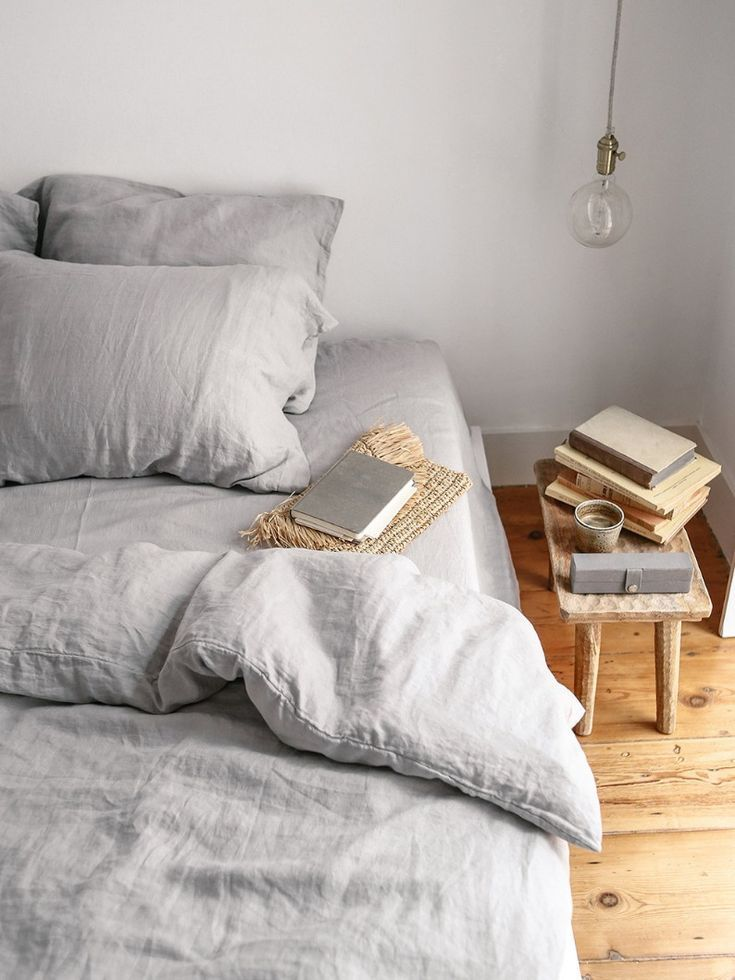 This Linen Bedding Is Made For Your Sweet Dreams And Perfect Mornings Its Soft Fabric And Light Colour Gi Grey Linen Bedding Bed Linen Sets Bed Linens Luxury