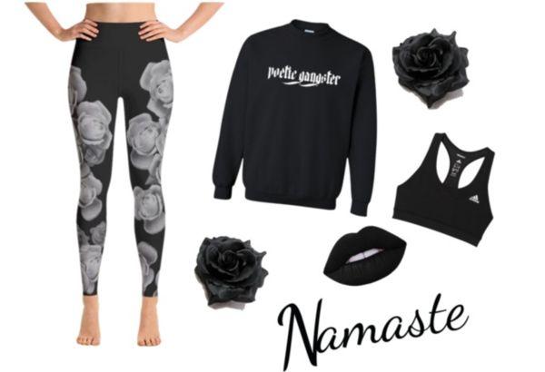 Black yoga wear Polivore | Azzurra Soul