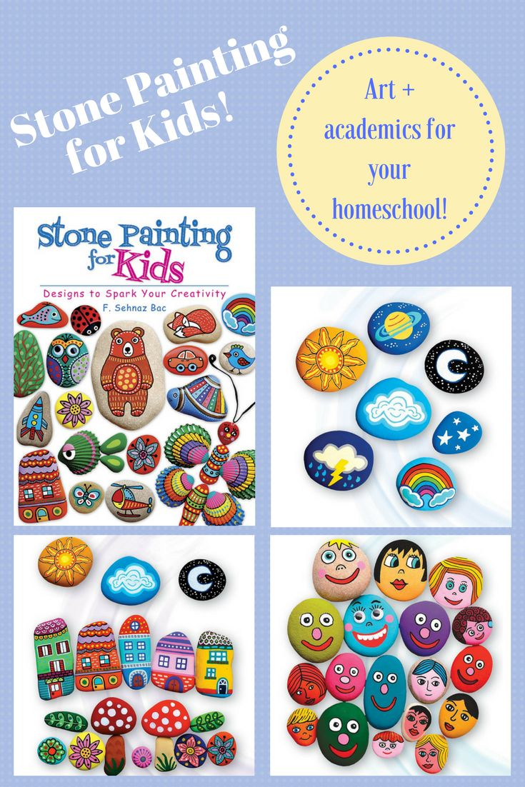 Stone Painting for Kids--TONS of fun, creative ideas for combining arts and crafts with other learning!  Great for all ages, too.