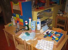 Kijktafel schoonmaken en water