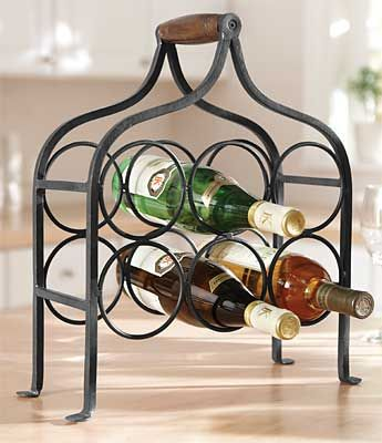 25 Best Images About Wrought Iron Wine Rack On Pinterest