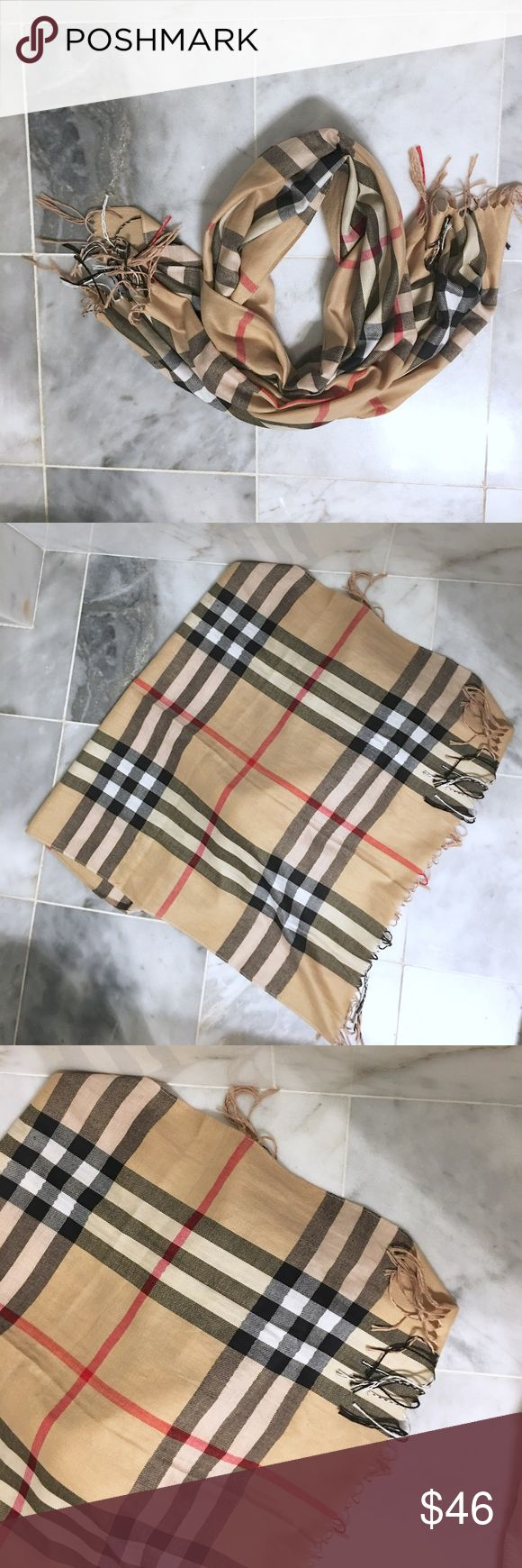 Burberry Print Scarf Like Burberry Print Scarf (not authentic)🌾Shipped from a smoke and pet free home 🌾Bundle and save 15%✖️No Trades/PayPal🌾Bundle for Special Discount Burberry Accessories Scarves & Wraps