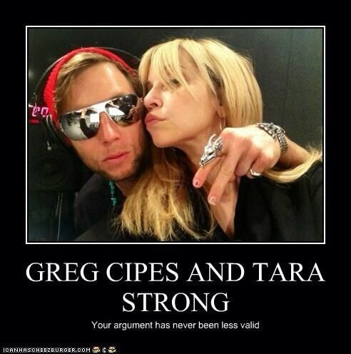 Greg Cipes And Tara Strong Tara Strong And Greg Cipes