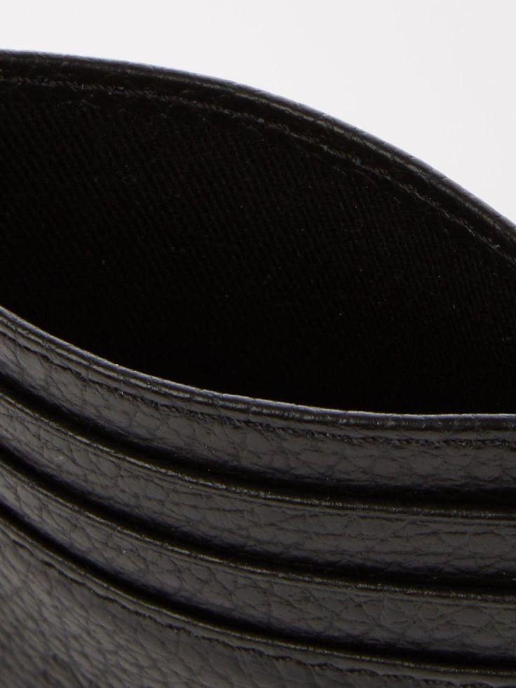 Vivienne Westwood Men'S Milano Pebble Grain Leather Credit Card Holder – Black –