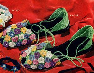 Floral Slippers Pattern | Crochet Patterns...This is a vintage pattern and it's free!