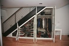 closet under stairs - Google Search