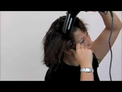 annoying music, but good How to Blow Dry Hair with a round brush