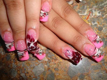 pink vegas nails | pink, pink, pink bling bling - Nail Art Archive - Style - NAILS ...