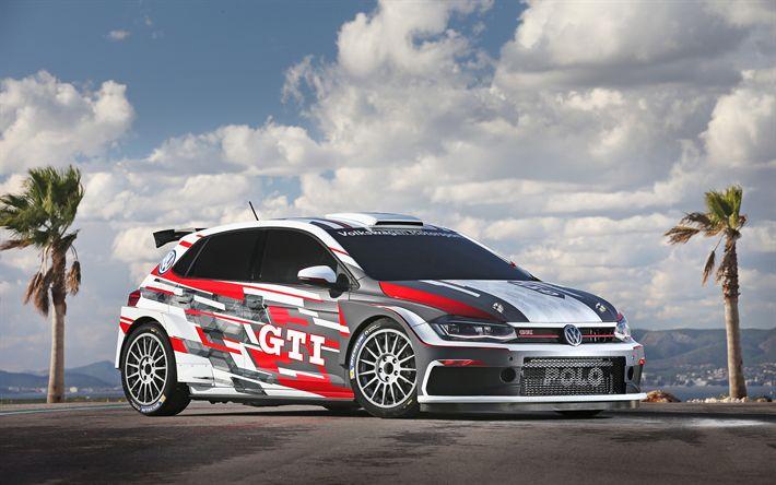 Download wallpapers 4k, Volkswagen Polo GTI R5, raceway, 2018 cars, WRC, FIA world rally, VW Polo, rally, Volkswagen
