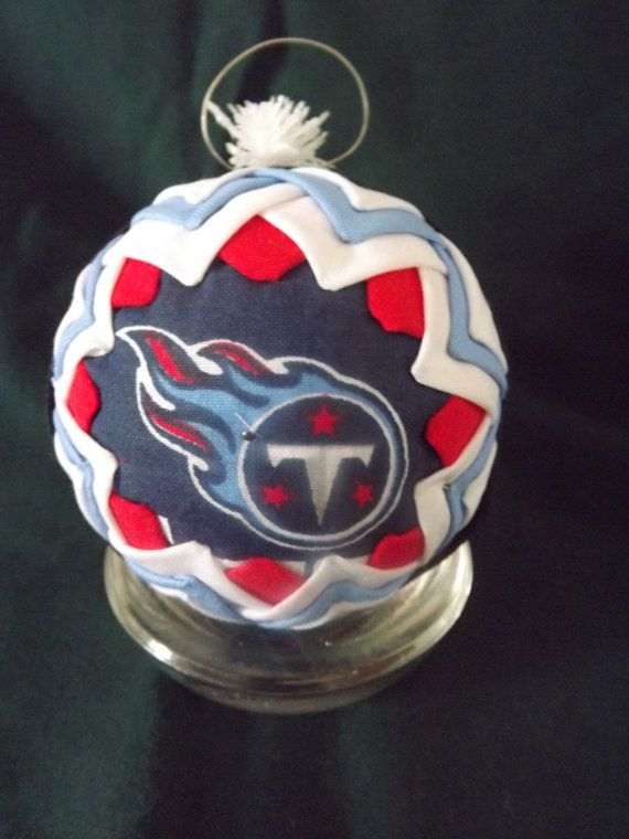 Quilted Sugar Plum Ornament Tennessee Titans By