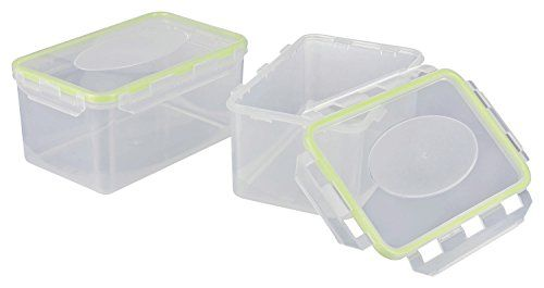 Haushaltsdose Absolut luftdichte Frischhaltedosen transparent/gr�n 2x2l