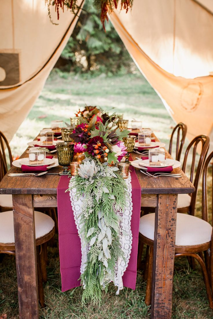 Glamping style wedding