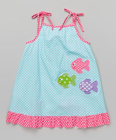 Look what I found on #zulily! Turquoise Circles Fish Jumper - Infant, Toddler & Girls #zulilyfinds