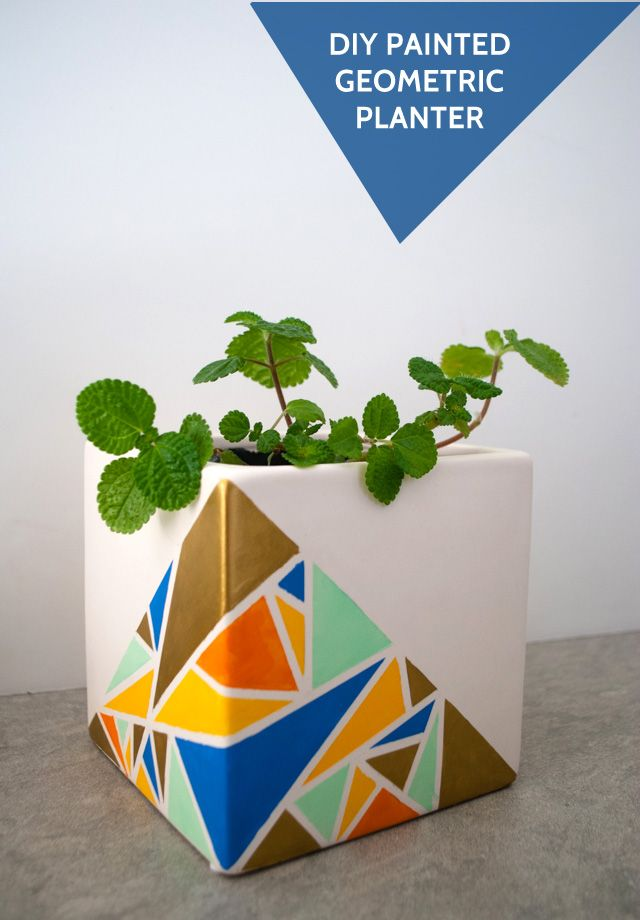 Easy #DIY Planter Project   Geometric Planter Tutorial from @Kathy Beymer from Merriment Design   Supplies available at Jo-Ann Fabric and Craft Stores or Joann.com   #craftmonthlove