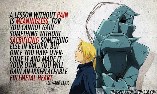 "Edward Elric - ""Pain"" - Quotes   Fullmetal alchemist ..."