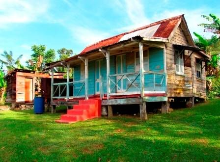 Rustic cottage home in Jamaica  picturesofjamaica.com  Jamaican architecture  Pinterest