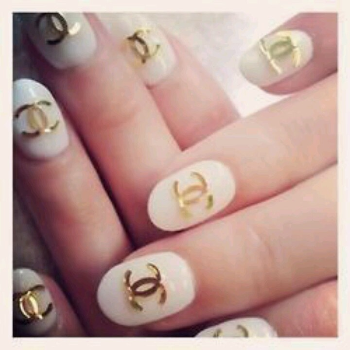 42 best nails images on pinterest fingernail designs makeup chanel nail art prinsesfo Image collections